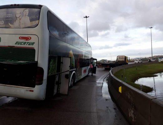 ônibus eucatur guincho