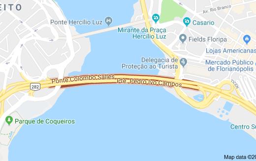 Pontes Pedro Ivo Campos e Colombo Salles Pontes de Florianópolis Ponte Colombo Salles