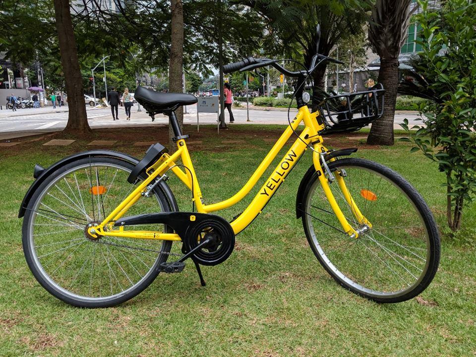 bike yellow em floripa