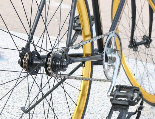 Pedalar com a bicicleta