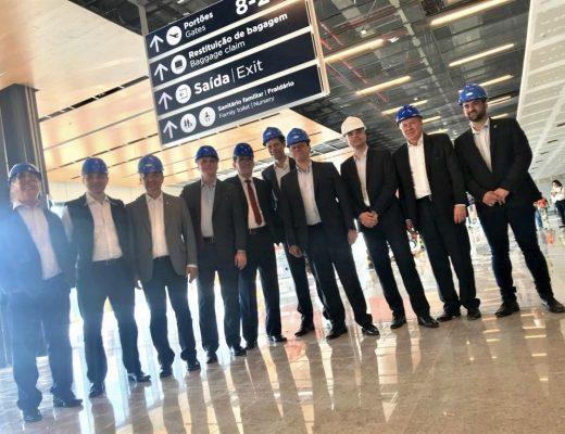Visita Obras do Aeroporto Terminal de passageiros