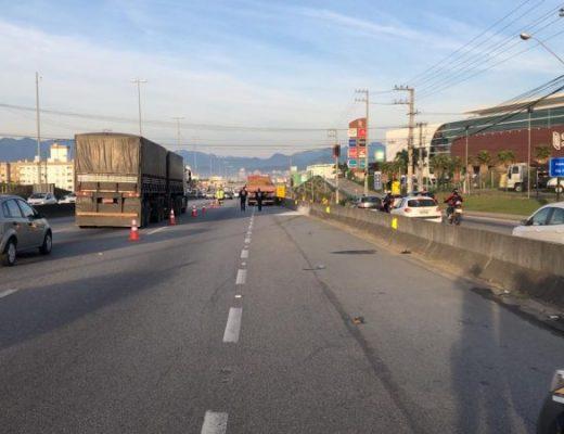 Atropelamento rodovia BR-101 São José