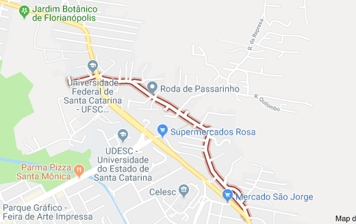 Rua Amaro Antônio Vieira no Itacorubi
