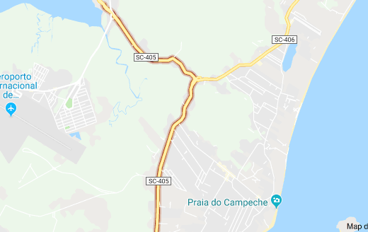 SC-405 no bairro Campeche