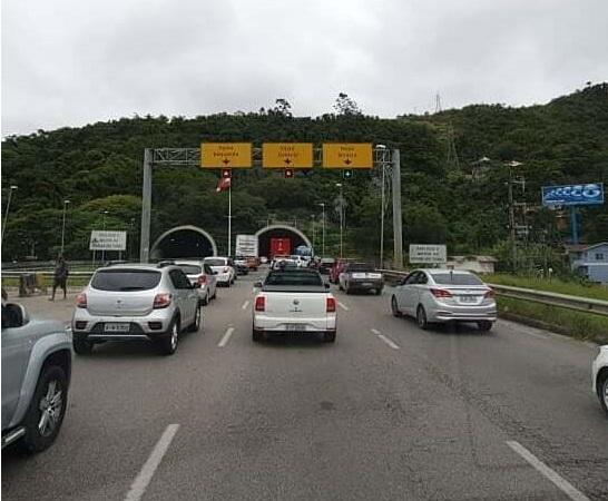 Trânsito em Florianópolis Travado