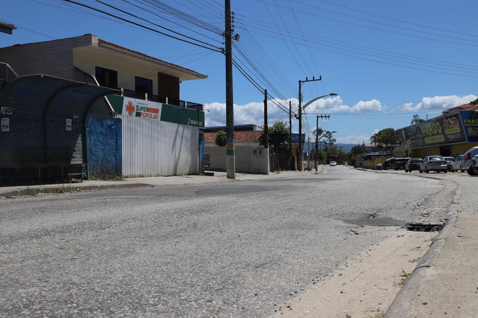 Rua 13 de Maio em Biguaçu